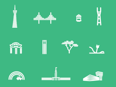 San Francisco Icon Set and Patern